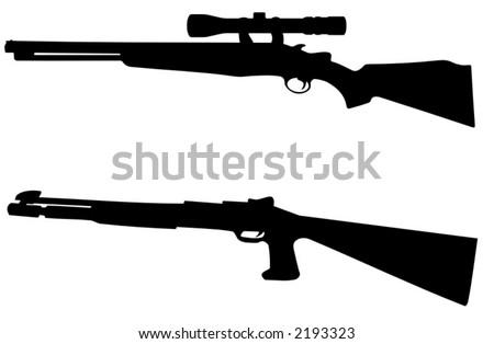 rifles - detailed vector illustration - stock vector