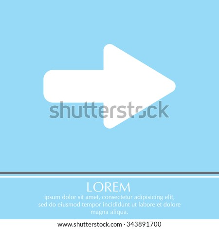 Right Arrow Symbol Icon Stock Photo Photo Vector Illustration