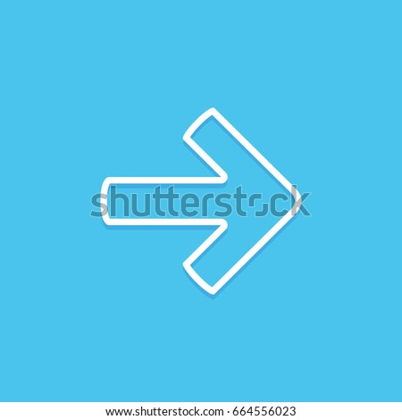 Right Arrow Symbol Icon Stock Vector 664556023 Shutterstock
