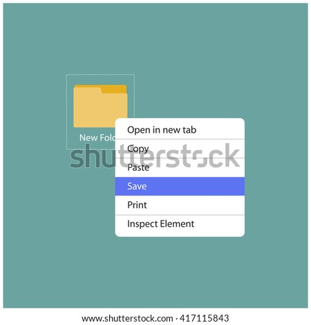 Right Click Save Drop Down (Vector Illustration)