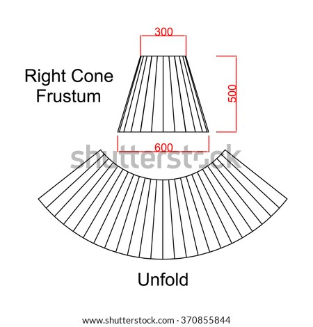 truncated cone template - frustum stock images royalty free images vectors