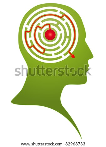 Right decision. Vector - stock vector