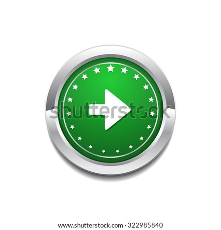 Right Key Circular Vector GreenWeb Icon Button
