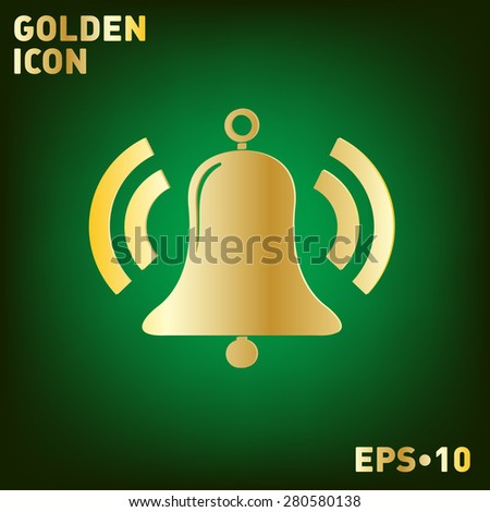 ring bell icon. Vector illustration EPS.