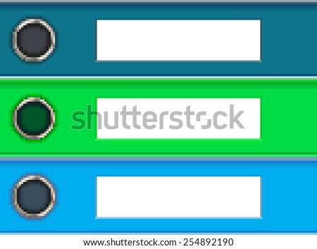 ring binders pixel art - stock vector