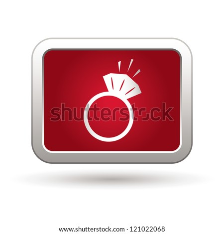 Ring icon. Vector illustration - stock vector