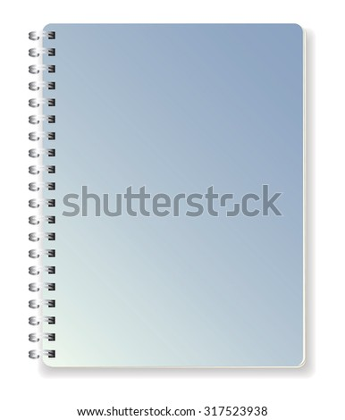 Ring notebook with blue cover