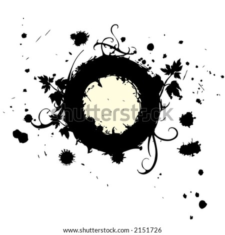 ring of leafs - stock vector