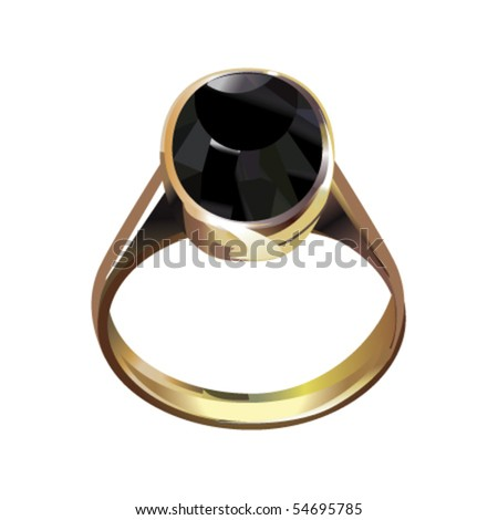 Ring with stone - stock vector
