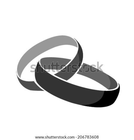 rings icon black wedding Vector  - stock vector