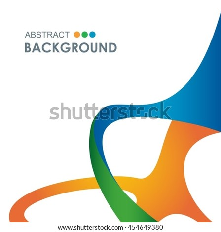 Rio 2016 abstract colorful background. Brazil Rio Summer Olympic wallpaper template. Green, orange, yellow, blue. Color shapes and lines. Summer Sport Brazil. For Art, Print, web design advertising.
