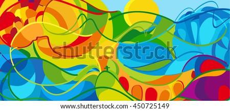2016 Abstract Colorful Background Rio De Janeiro 2018 Brazil Wallpaper