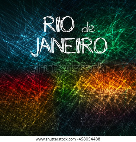 rio de janeiro abstract art background