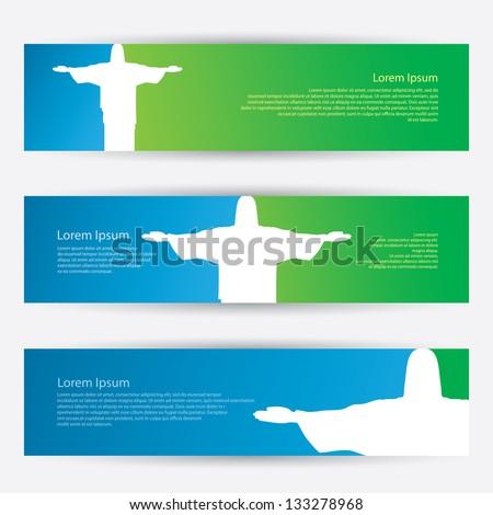 Rio De Janeiro banners - vector illustration - stock vector