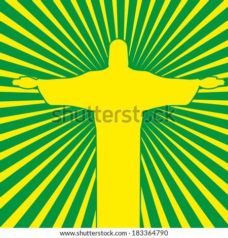 Rio de Janeiro Christ the redeemer vector art - stock vector
