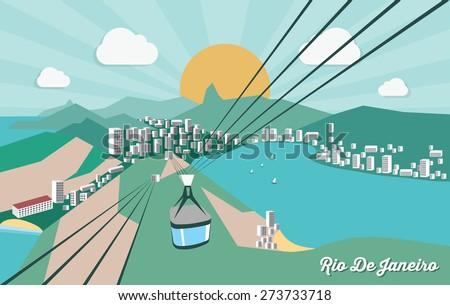 Rio de Janeiro - vector illustration - stock vector
