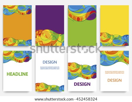 Rio 2016 Olympics brochures with abstract background. Summer Olympic Games in Brazil pattern. Olympiad 2016 landscape. Sport gold medal event. Competition in Rio de Janeiro. Art, Print, Web design.