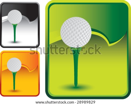 rip curl banner golf ball on tee - stock vector