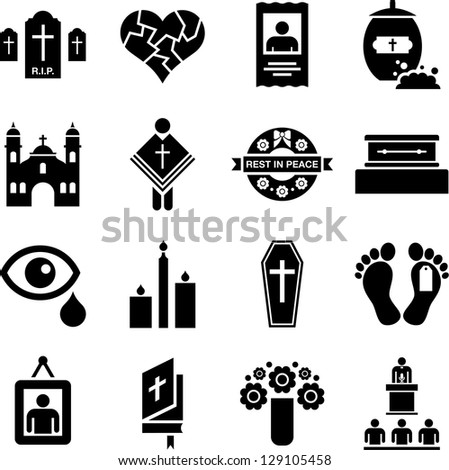 RIP icons - stock vector