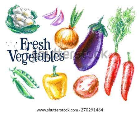 ripe vegetables vector logo design template.  fresh food or harvest icon. - stock vector