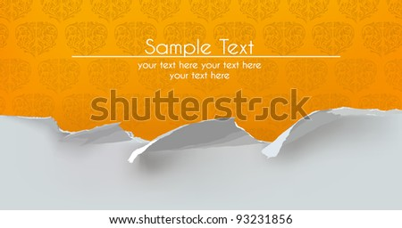 Ripped paper background - stock vector