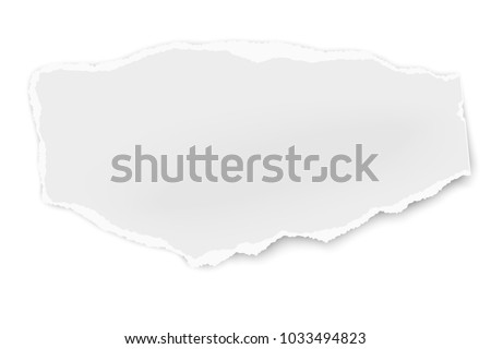 Ripped Paper Tear Soft Shadow Isolated Stock Vector 1033494823 ...