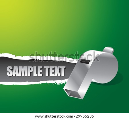 ripped paper with whistle - stock vector