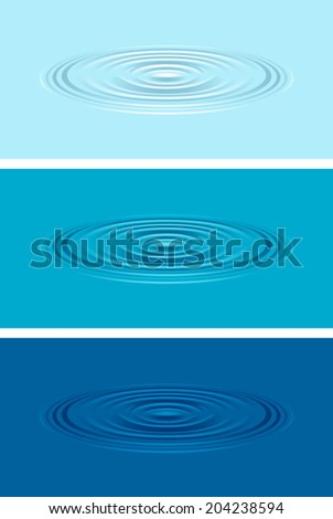 Ripples on the water - stock vector