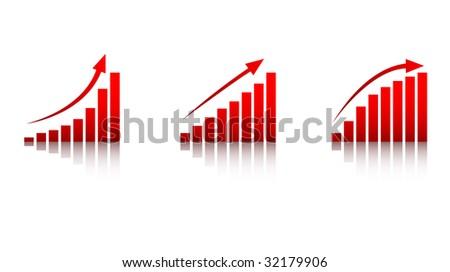 Rising Economy Icons - stock vector