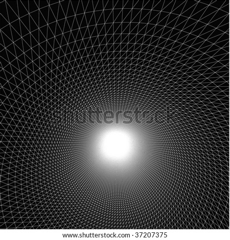 Rising of the artificial digital sun. - stock vector
