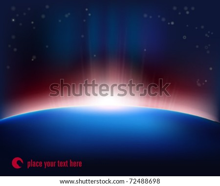 Rising of the Sun - stock vector