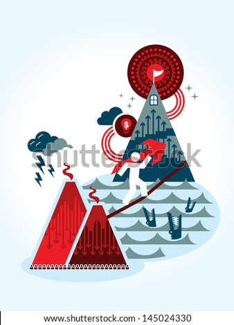 Risk and Reward business concept Illustration - stock vector