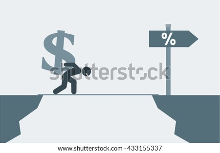 Risk Business Investment Banking Vector Design