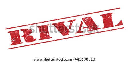rival vector stamp on white background