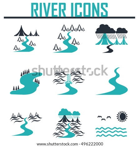 River Silhouette Clip Art