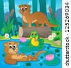 River fauna theme image 3 - vector illustration. - stock vector