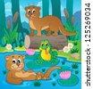 River fauna theme image 3 - vector illustration. - stock photo