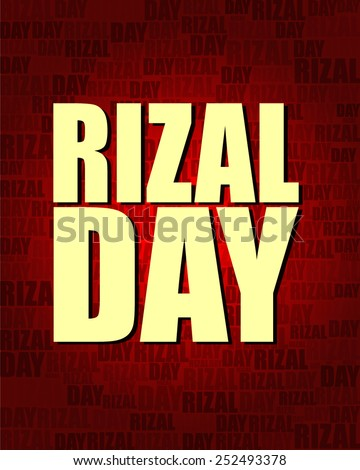 Rizal Day with same text on red gradient background.