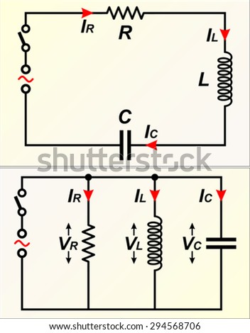 Rlc circuit stock vector royalty free 294568706 shutterstock rlc circuit ccuart Image collections
