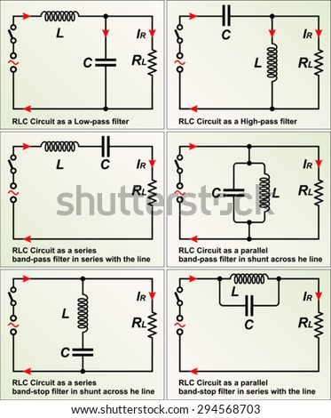 Rlc circuit filters stock vector royalty free 294568703 shutterstock rlc circuit filters ccuart Image collections
