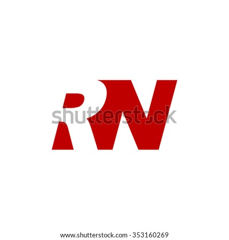 Rn negative space letter logo red stock vector 353160269 shutterstock rn negative space letter logo red altavistaventures Gallery