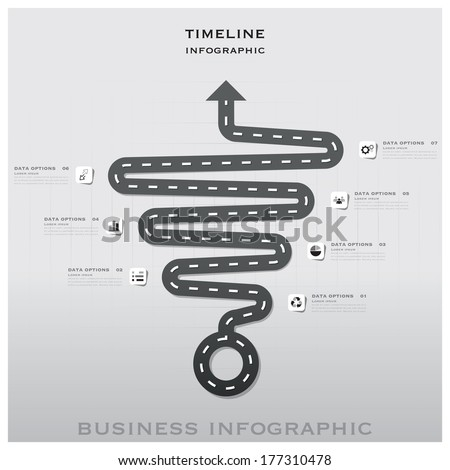 Road And Street Traffic Sign Timeline Business Infographic Background Design Template - stock vector