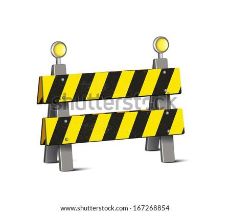 Road Barrier  - stock vector