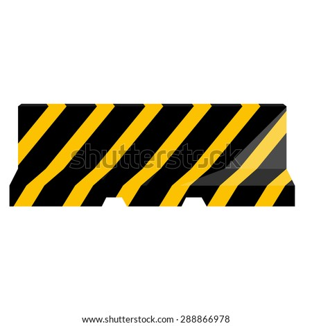 Road barrier striped black and yellow vector illustration. Traffic barrier. Road block. - stock vector