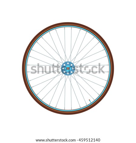 Road bicycle wheel logo. City bike icon. Vector illustration on white background.