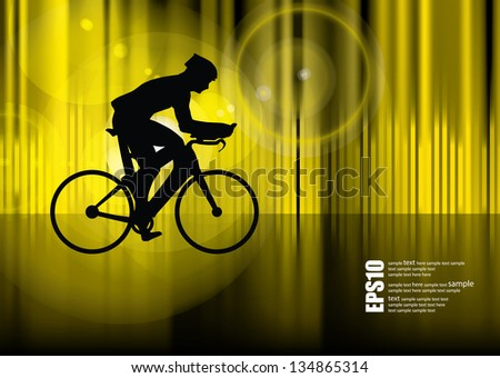 Road bike. Vector - stock vector