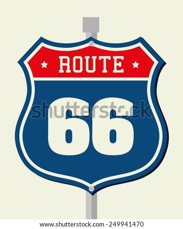 Road design over beige background, vector illustration. - stock vector