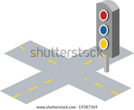 Road Icon - stock vector