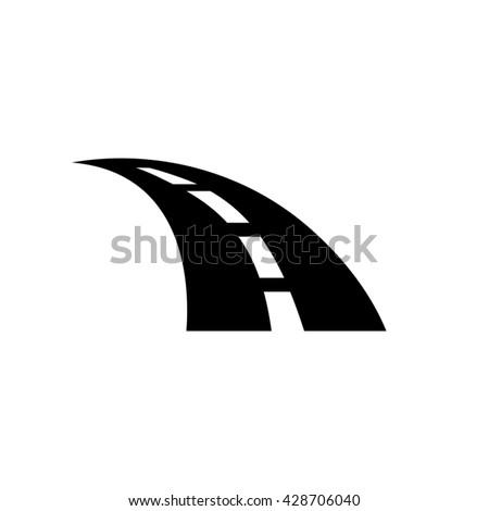 Road Icon Vector   - stock vector