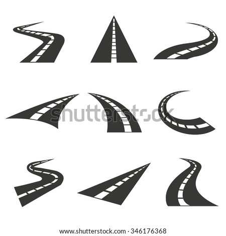 road icons  - stock vector